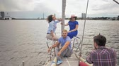 regata : People during photo shoot on a yacht