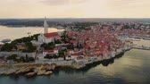набережная : Aerial view of a Rovinj, Croatia
