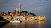 croácia : View of a Rovinj, Croatia Stock Footage