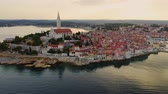 croácia : Aerial view of a Rovinj, Croatia