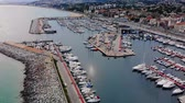 espanha : Aerial view of sailboats in harbour