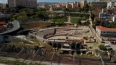tarihi : Tarragona Roman Amphitheater, Spain Stok Video