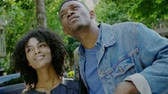 beijos : Young happy black couple outdoors