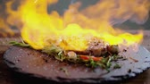 paleo : Steak and fire in slow motion