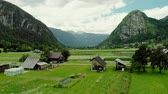 local : View over Srednja Vas v Bohinju village, Slovenia