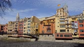 judaico : Beautiful view of Girona, Spain Stock Footage