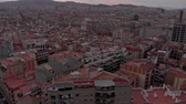 cobertura : Aerial view of Barcelona neighborhood Stock Footage