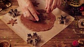 canela : Woman making gingerbread for Christmas