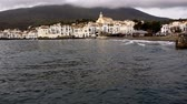 girona : Beautiful view of Cadaques village at evening, Spain Stock Footage