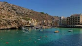 máltai : Panoramic bay view of Mgarr harbour
