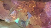 mica : Crystal shinng with all rainbow colors Stock Footage