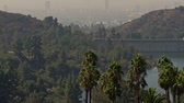 Panoramic view of Los Angeles, USA Stok Video