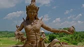 世界遺産 : Woman near Statue of Goddess of fertility at Jatiluwih rice terrace, Bali