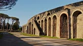 ruiny : Colloseum of famous Pompeii city, Italy