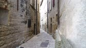 provence : old town near Montpellier, alley with rustic and old buildings