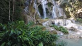 laosz : Tropical waterfall in Loas