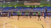 Auckland New Zealand 21.04.2017 Shot of volleyball players above 30 years old gathering in the world master game 2017 at Waitakere Trust Stadium