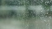 condensed : Close-up of water droplets on glass