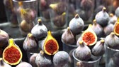 ingredienti : fresh figs on the market. fresh fruit on a farmers market counter