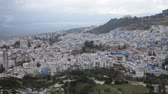 maroc : Townscape of Chefchaouen in Morocco Stock Footage
