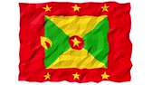 tiere : Flagge von Grenada 3D Wallpaper Animation, Nationales Symbol, Seamless Looping Footage