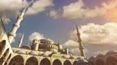 middle eastern : Cinemagraph - Sultan Ahmed Mosque (Blue Mosque), Istanbul, Turkey.   4k high quality footage.