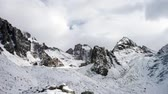 Panoramic view of the winter mountains. Kyrgyzstan.Ala-Archa.