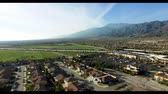 high plain : Panoramic aerial shooting of the city Stock Footage
