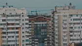 panorama of high-rise residential buildings.