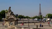 "旅游 : Paris ""Place de la Concorde"" with Eiffel Tower in background"