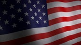 3D-Animation der USA Nationalflagge. Stock Footage