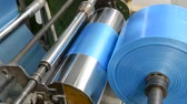 rolamento : Machine with polyethylene for the production of plastic bags Stock Footage