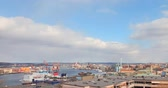 roof : Port of Gothenburg. Sweden. UltraHD (4K)