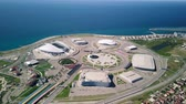 olympic park : Russia, Sochi - September 03, 2017: General view of Sochi Park in the Adler from a birds-eye view. Venue 2018 World Cup FIFA in Russia, From Dron, Point of interest