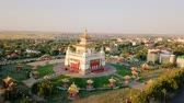 buddhista : The golden abode of Buddha Shakyamuni at sunrise is the largest Buddhist temple in the Republic of Kalmykia, one of the largest Buddhist temples in Europe. Elista, Russia, From Dron, Point of interest