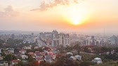 cazaquistão : Sunset over the city of Alma-Ata. Kazakhstan. Time Lapse
