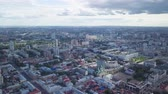 Panoramic view of the city of Perm, Russia, From Dron 動画素材