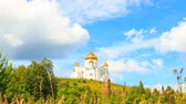 abadia : Belogorsky St. Nicholas Orthodox-Missionary Monastery. Russia, Perm Territory, White Mountain. Time Lapse