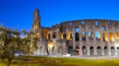 flavian : Coliseum at dawn. Rome, Italy