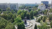 memórias : Monument to Catherine II - a monument in honor of Empress Catherine II in Krasnodar. It is located in Ekaterinensky Square. City of Krasnodar, Russia, From Dron