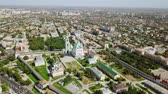 point of interest : Aerial view of the Astrakhan Kremlin, historical and architectural complex. Russia, Astrakhan, From Dron, Point of interest
