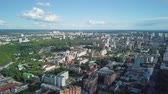 yükseklik : Panoramic view of the city of Perm, Russia, From Dron Stok Video