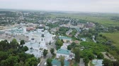 érdeklődés : View of the Resurrection Cathedral from above. Panorama Arzamas, Russia, From Dron, Point of interest