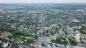 ortodoxie : Panorama of the city of Arzamas from a birds eye view, Russia, From Dron