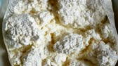 twarożek : Rustic whole curd cheese, close-up Wideo