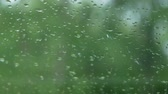 угрюмый : raining drop with green background.