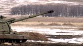 sevastopol : Shot of Russian army 2S19 Msta-S self-propelled howitzer