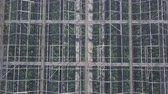 fotossíntese : Aerial view on the large modern greenhouse Vídeos