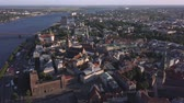 spirál : Aerial view over the Old Riga City