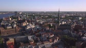 riga : Aerial view over the Old Riga City. Stock Footage